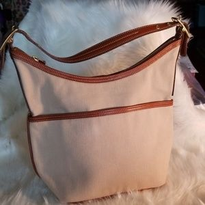 Coach Canvas and Leather Hobo Bag